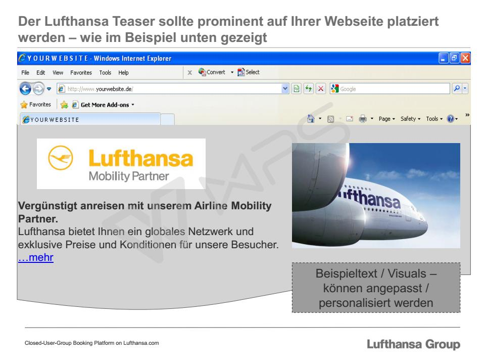 Special offer: Discounted travel with Lufthansa Group