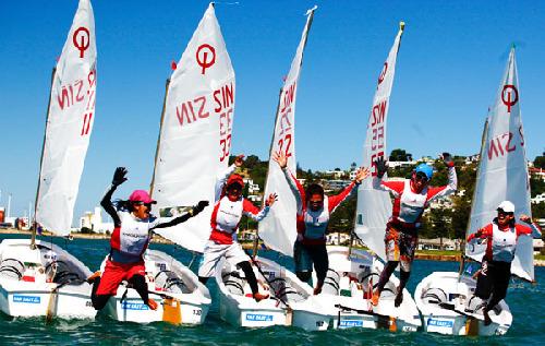op世锦赛新西兰收帆 青岛元素闪耀世界风帆之都